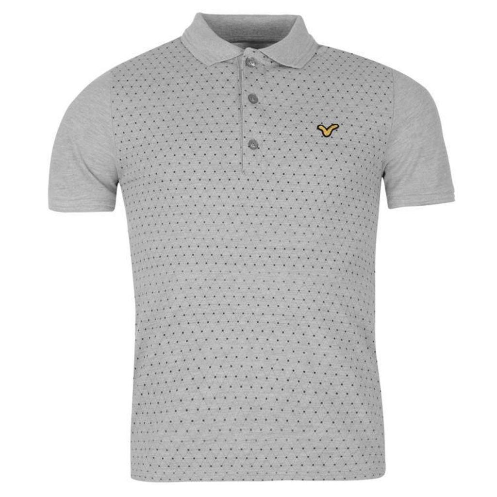 VOI Howden Print Polo Shirt Mens