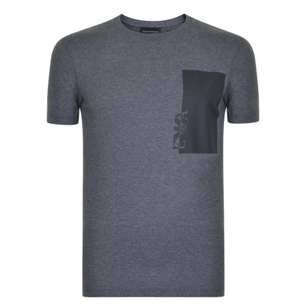 EMPORIO ARMANI Rubber Logo T Shirt
