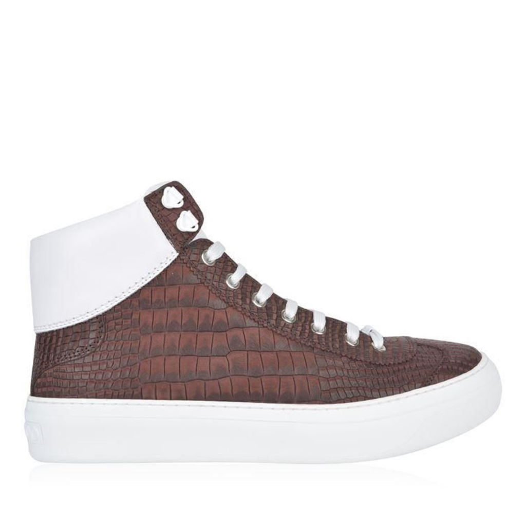 JIMMY CHOO Argyle Croc High Top Trainers