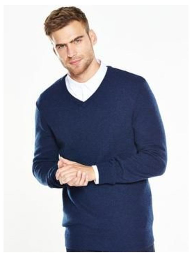 V By Very V Neck Lambs Wool Jumper