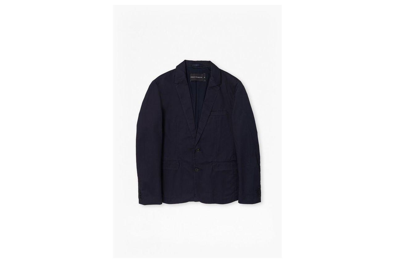 Big Spin Pima Cotton Blazer - marine blue