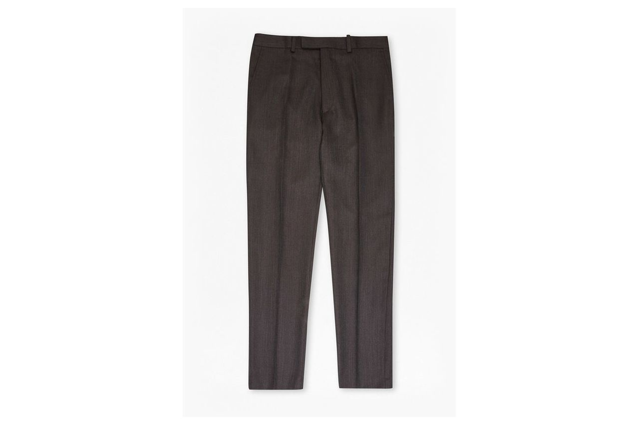 Brown Texture Trousers - brown