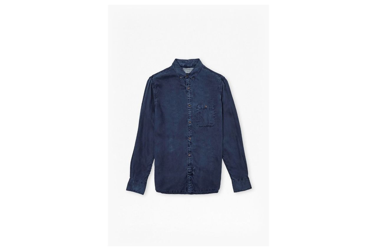 Workwear Tencel Brosnan Shirt - navy