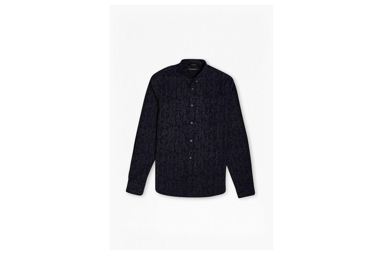 Bamboo Cotton Brosnan Shirt - marine blue