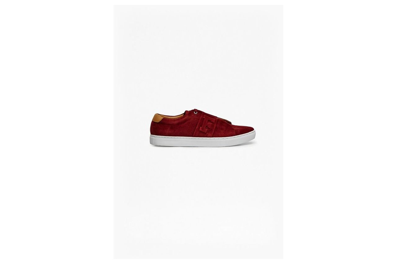 Faxton Suede Trainers - burgundy