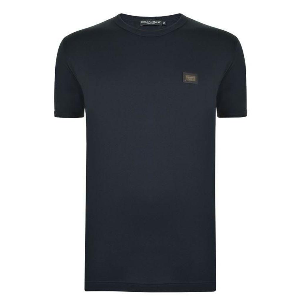 DOLCE AND GABBANA Plate Logo T Shirt