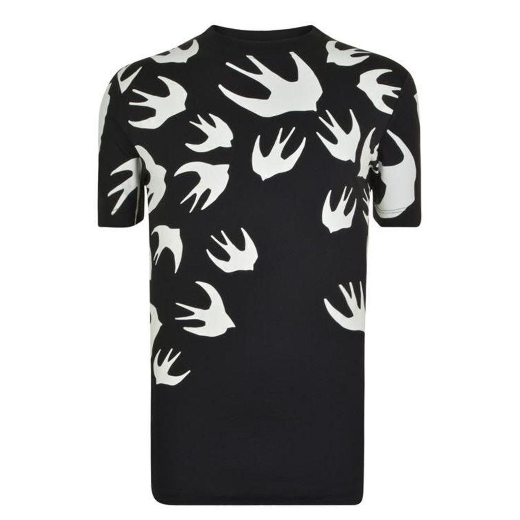 MCQ ALEXANDER MCQUEEN Swallow Print T Shirt