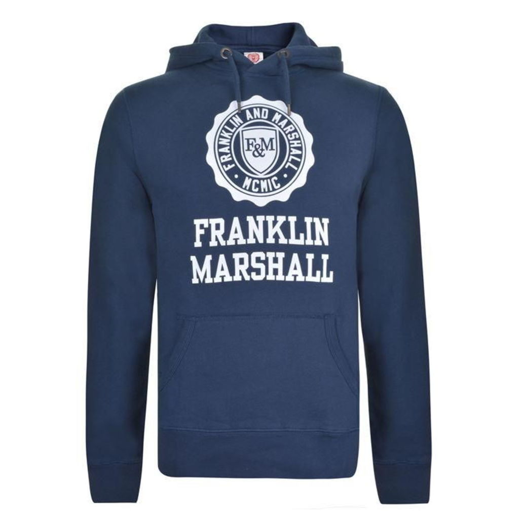 FRANKLIN AND MARSHALL Logo Hooded Sweatshirt