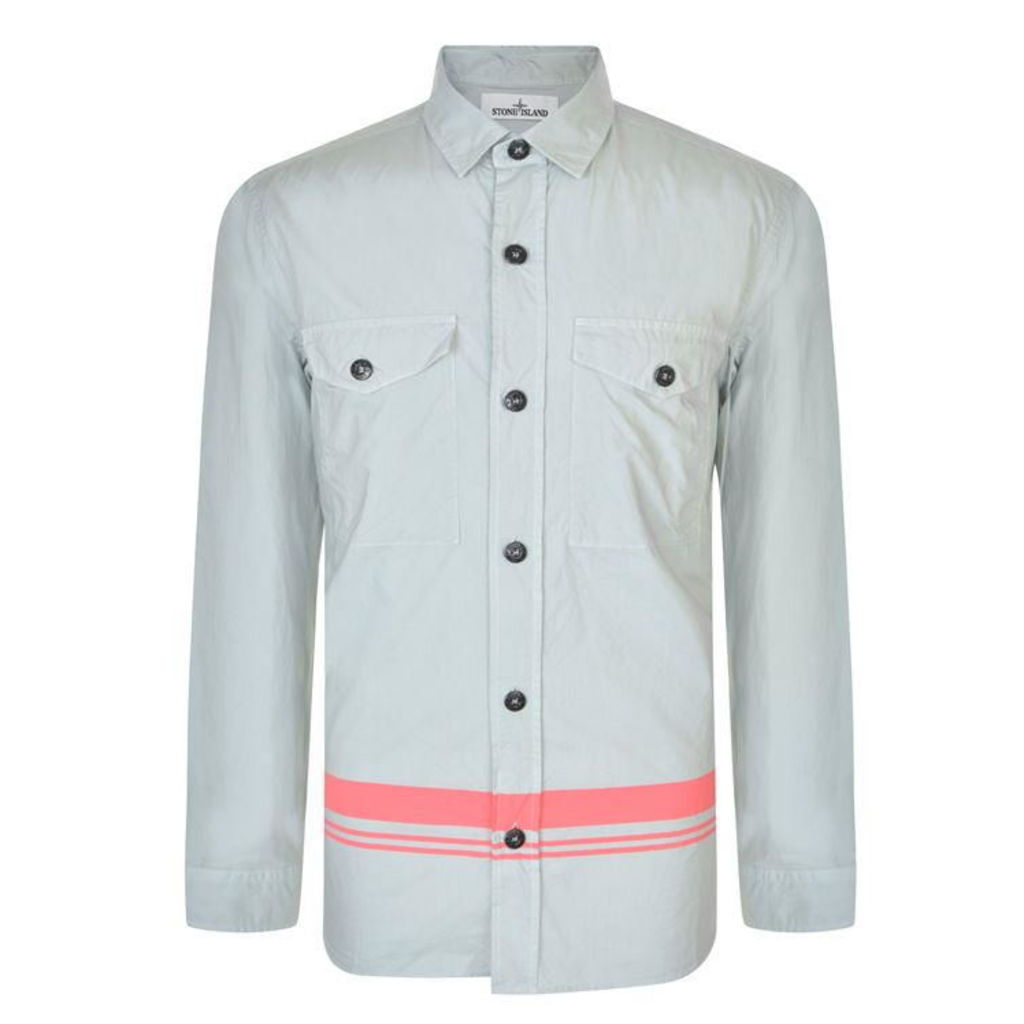 STONE ISLAND MARINA Long Sleeved Button Down Shirt