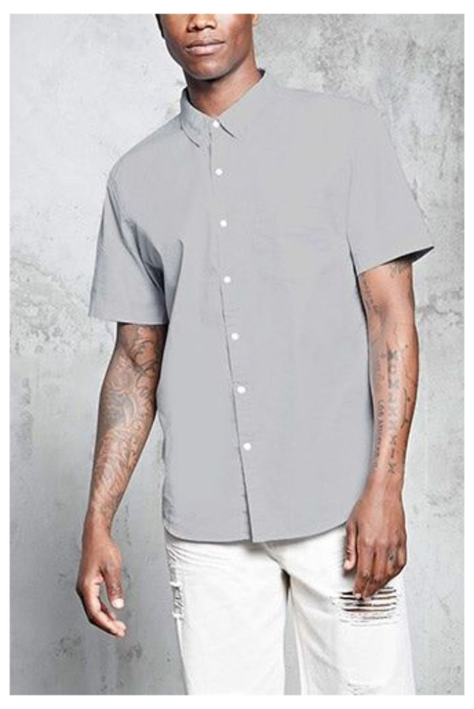 Slim-Fit Button-Front Shirt