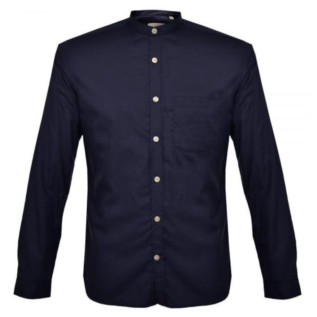 Oliver Spencer Grandad Astley Navy Shirt OSS126