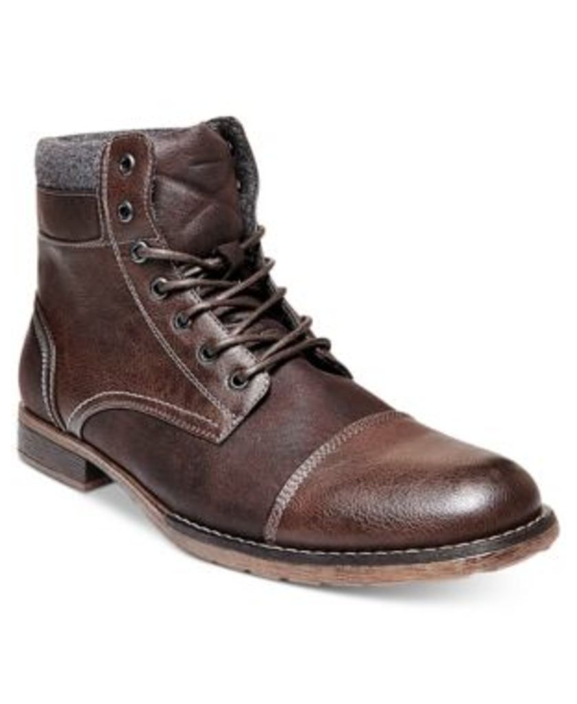 Steve Madden Men's Tegen Cap Toe Causal Boots Men's Shoes