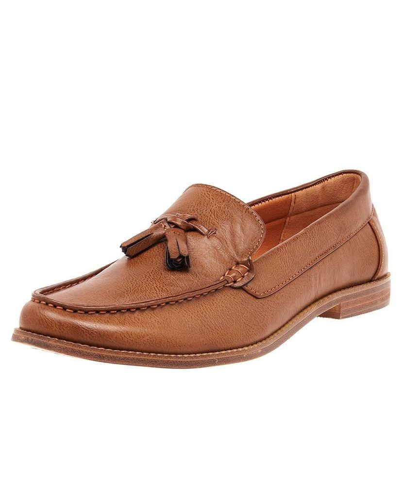 Men's Blue Inc Brown Tassel Loafers, Brown
