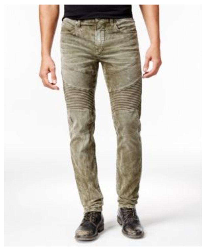 True Religion Men's Rocco Skinny- Fit Moto Heritage Jeans