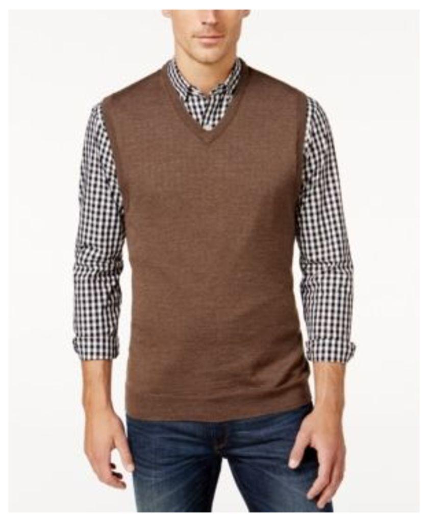 Club Room Men's VNeck Merino Blend Sweater Vest, Only at Macy's
