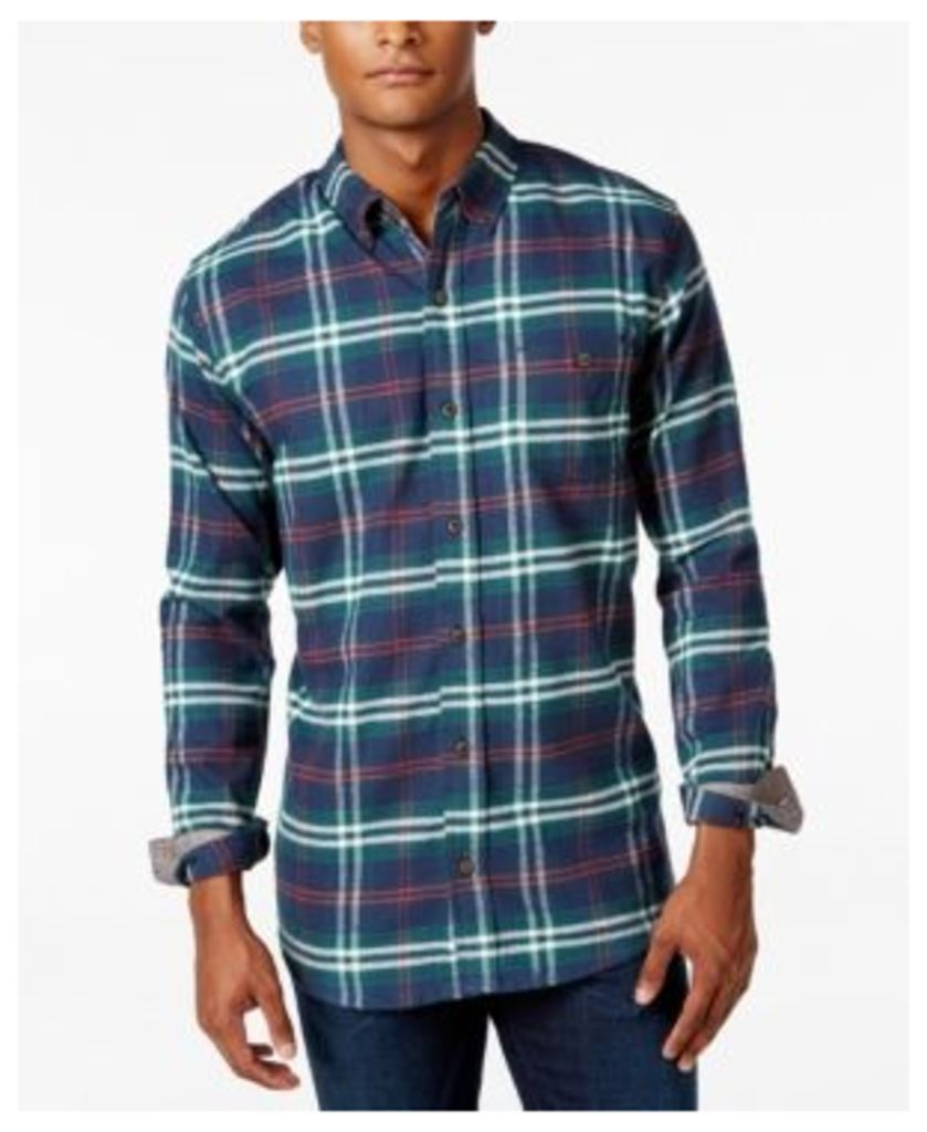 Weatherproof Vintage Men's Big and Tall Plaid Flannel Shirt, Classic Fit