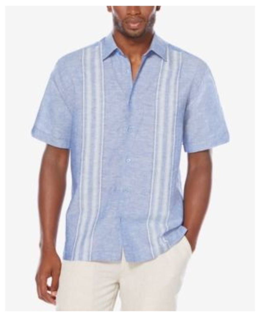 Cubavera Men's Big and Tall Striped Panel Shirt
