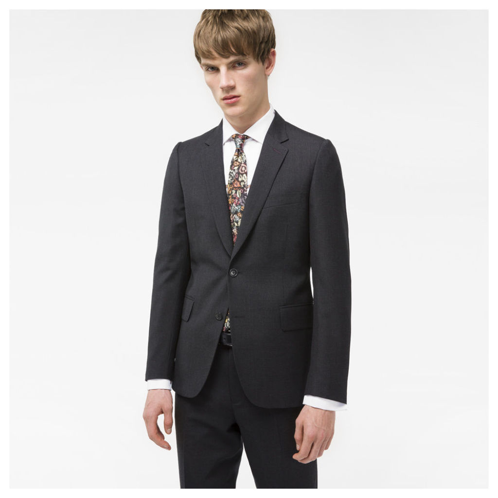 A Suit To Travel In - Men's Tailored-Fit Charcoal Wool Blazer