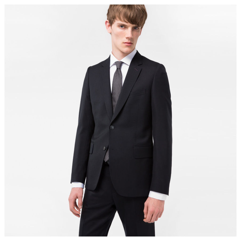 A Suit To Travel In - Men's Tailored-Fit Black Wool Blazer
