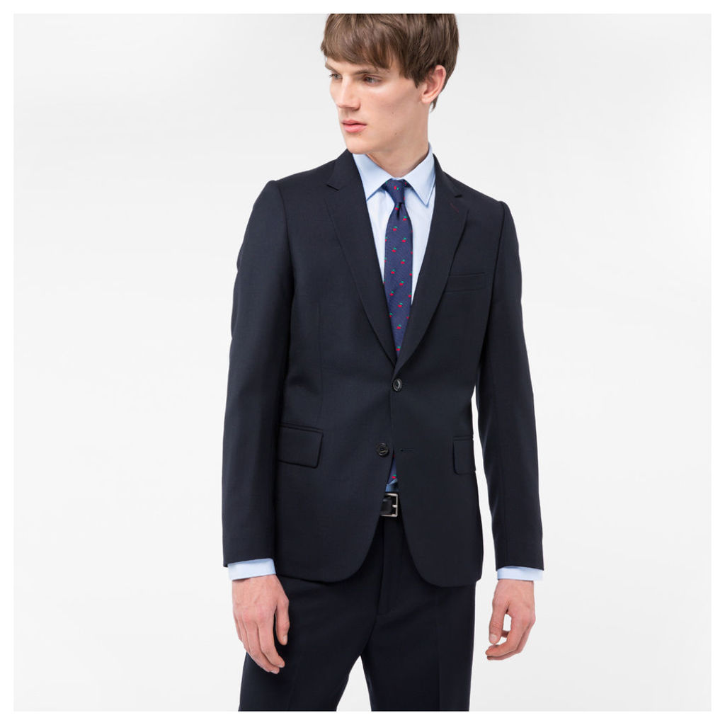 A Suit To Travel In - Men's Tailored-Fit Navy Wool Blazer
