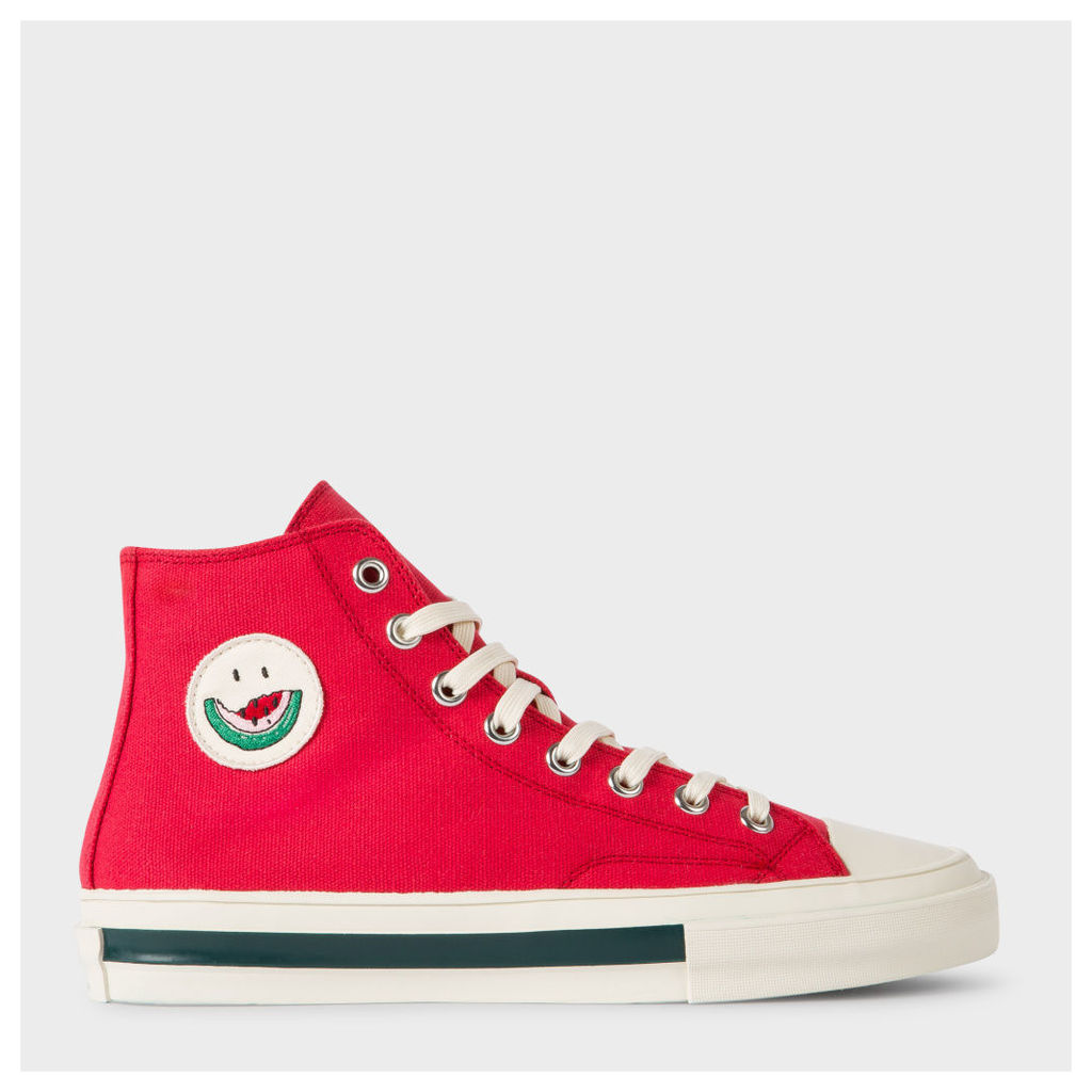 Men's Red Cotton-Canvas 'Kirk' Trainers