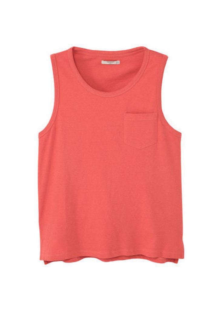 Strap cotton t-shirt
