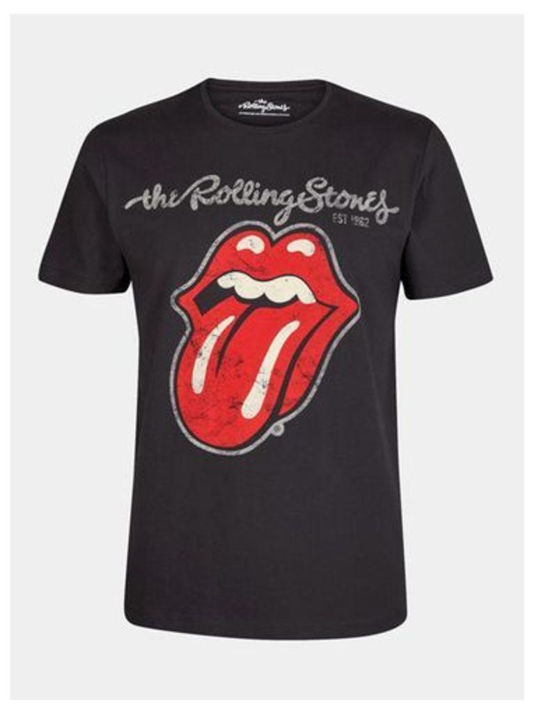 Mens Black The Rolling Stones Print T-Shirt, Black