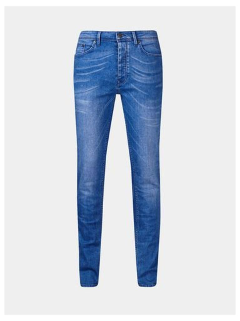 Mens Hyperblue Wash Skinny Fit Jeans, Blue