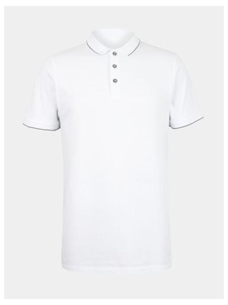 Mens White Polo Shirt, White