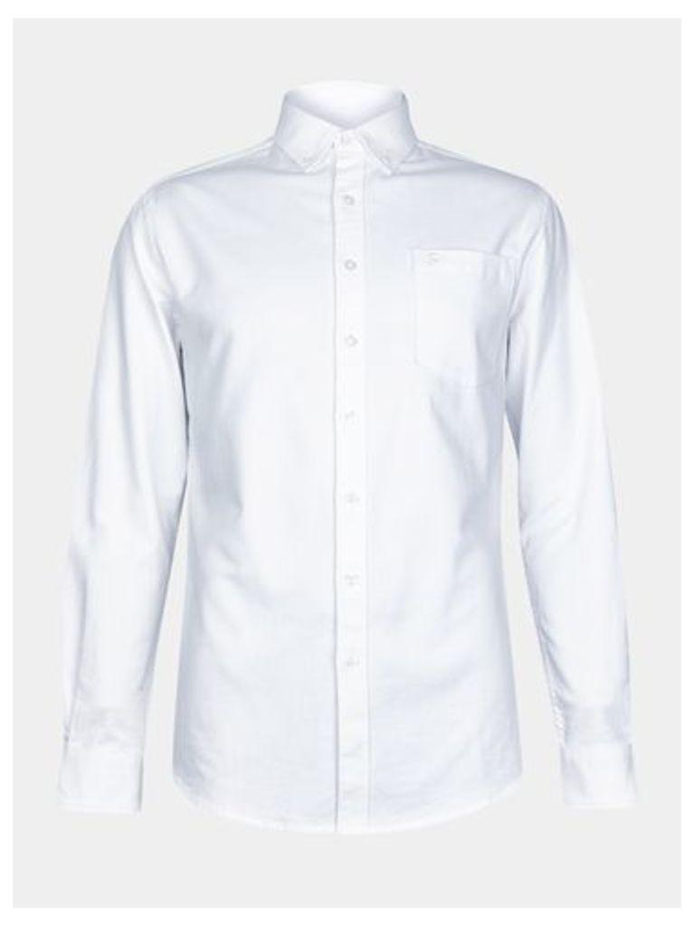 Mens Farah White Long Sleeve Oxford Shirt*, White