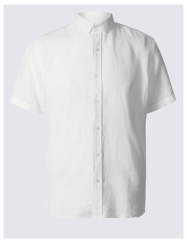 Best of British for M&S Collection Irish Linen Short Sleeve Shirt