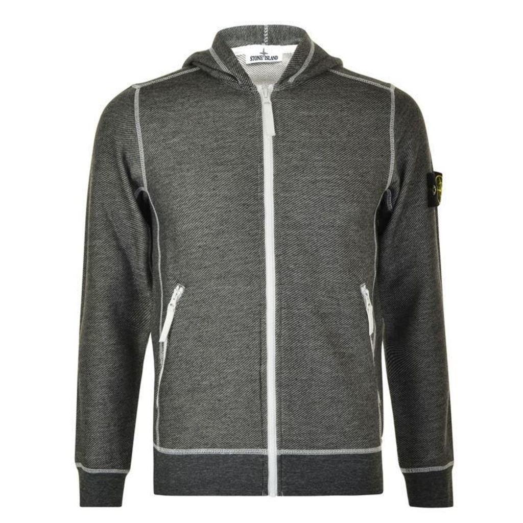 STONE ISLAND Diagonal Stripe Hooded Sweatshirt