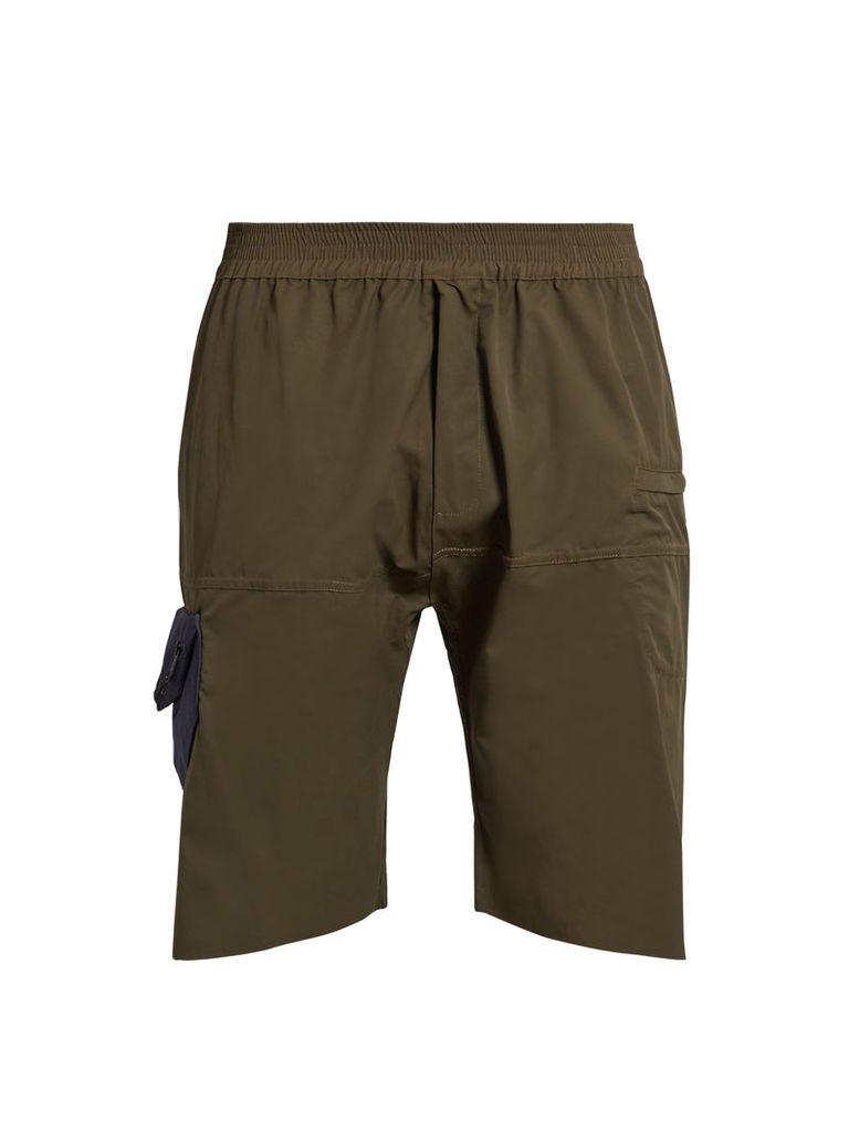 Hangar patch-pocket cotton shorts