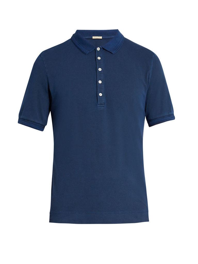 Tennis stretch-cotton piqué polo shirt