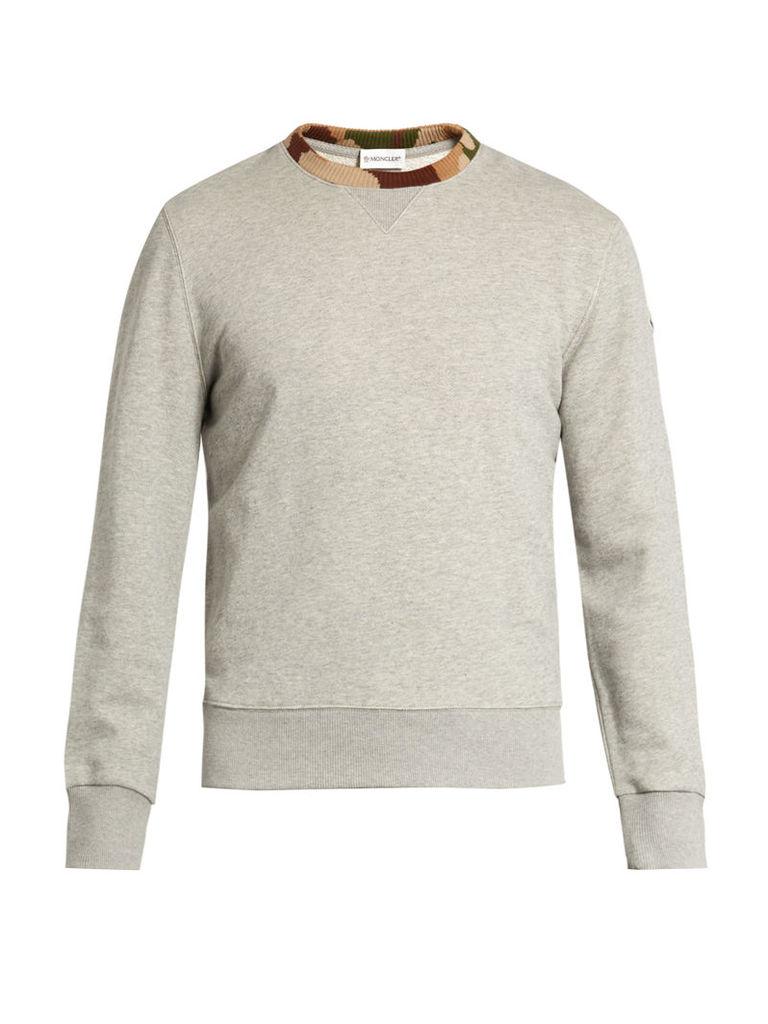 Contrast-trim cotton-jersey sweatshirt
