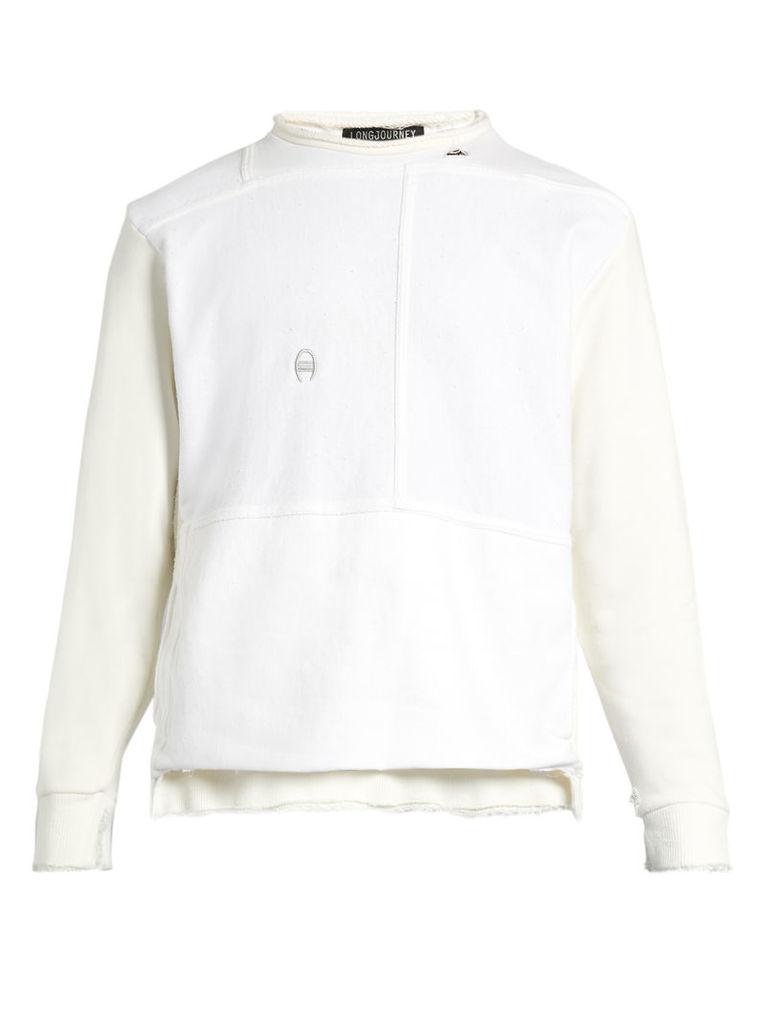 Nash distressed-edge cotton sweatshirt