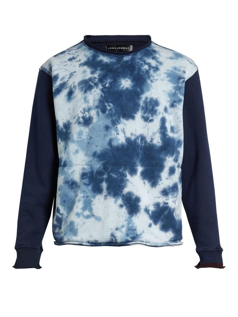Nash tie-dye print cotton sweatshirt
