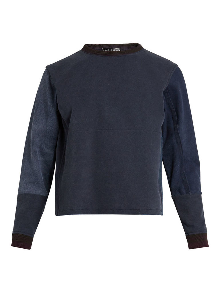 Nash cotton long-sleeved sweater