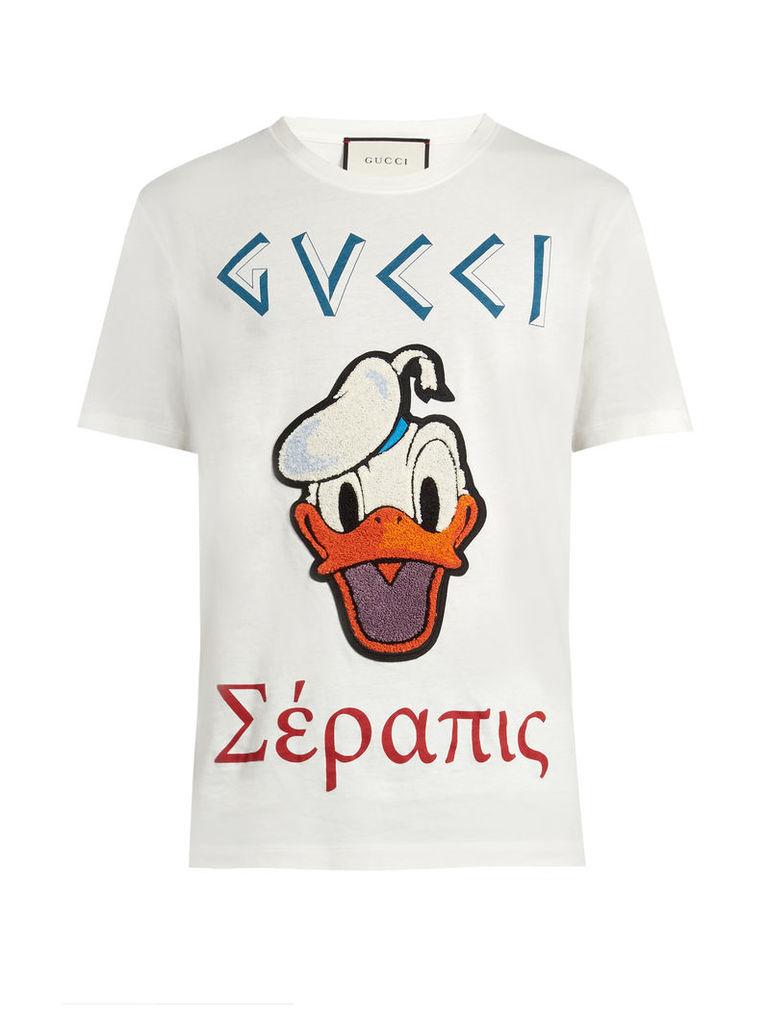 Donald Duck©-appliqué cotton T-shirt