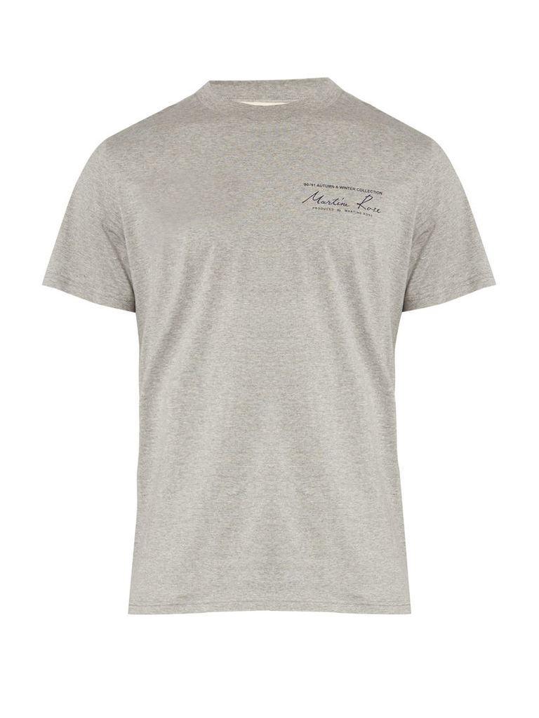 Logo-print cotton-jersey short-sleeved T-shirt