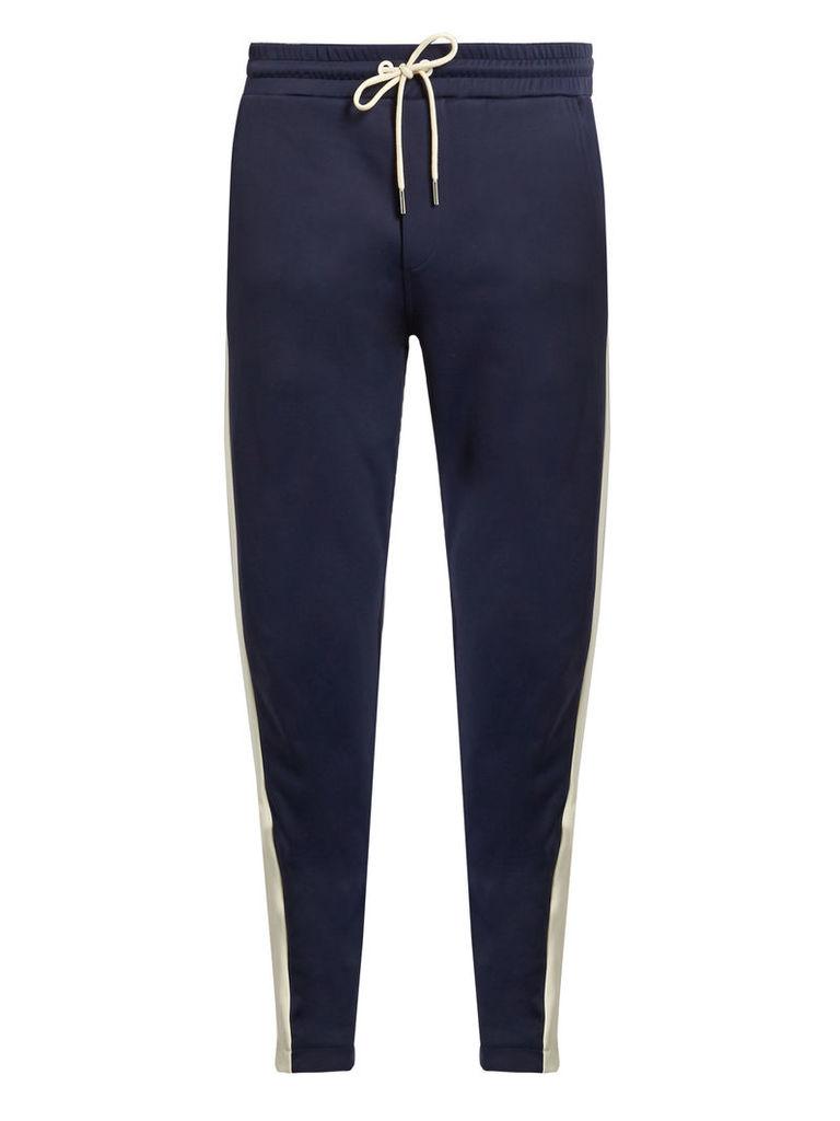 Side-stripe jersey track pants