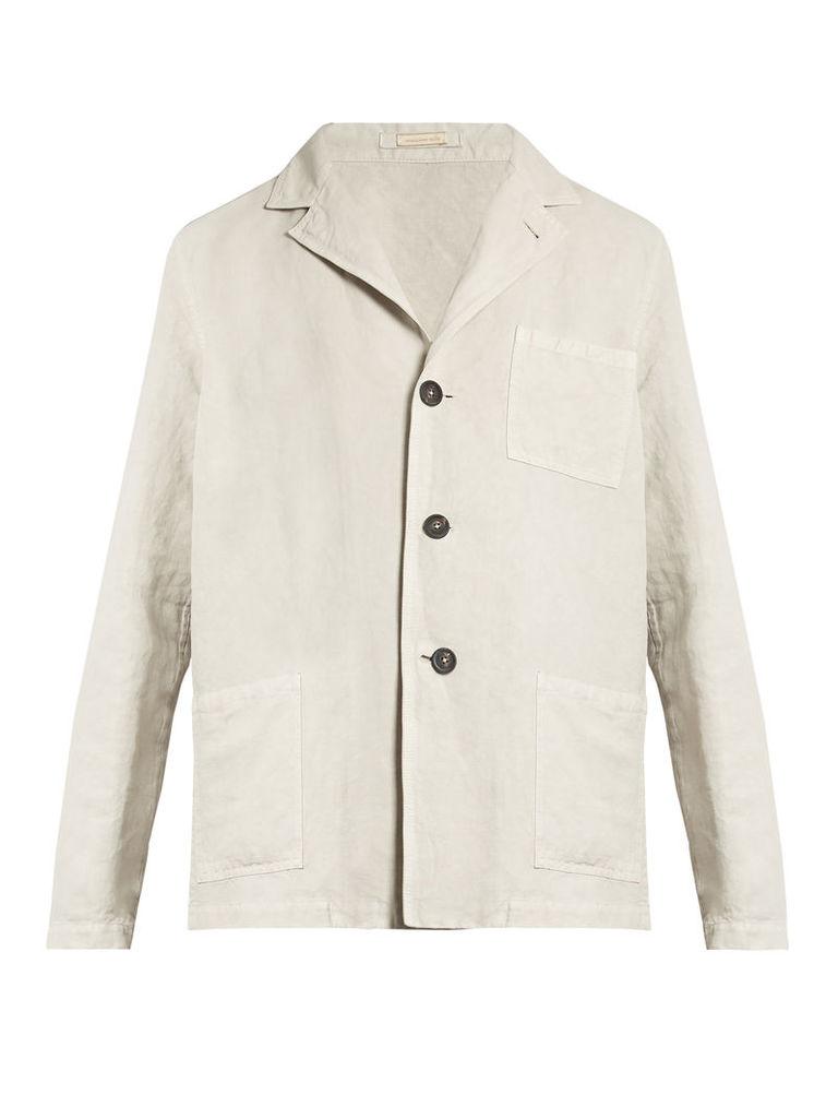 Baglietto linen-blend single-breasted blazer