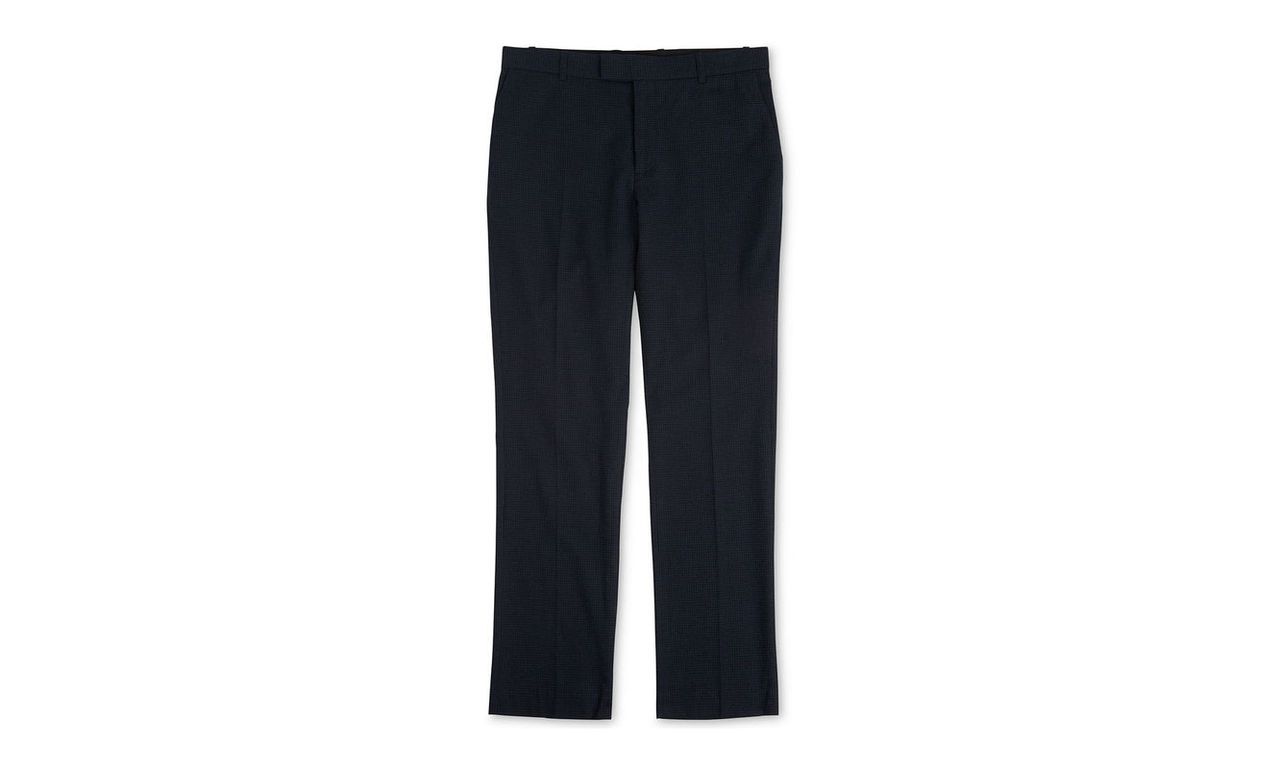 Slim-Fit Check Trousers