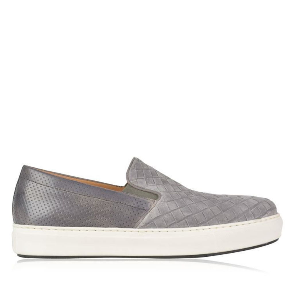 MAGNANNI Woven Suede Slip On Trainers