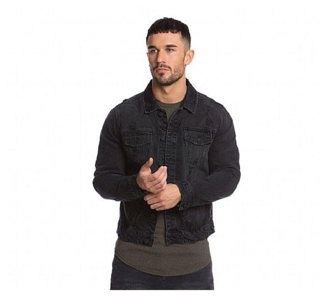 Rocker Distressed Denim Jacket
