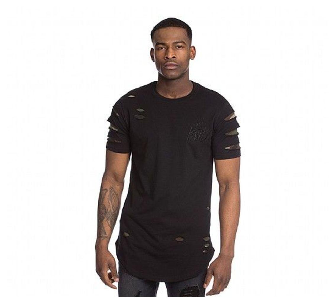 Bex Ripped Camo T-Shirt
