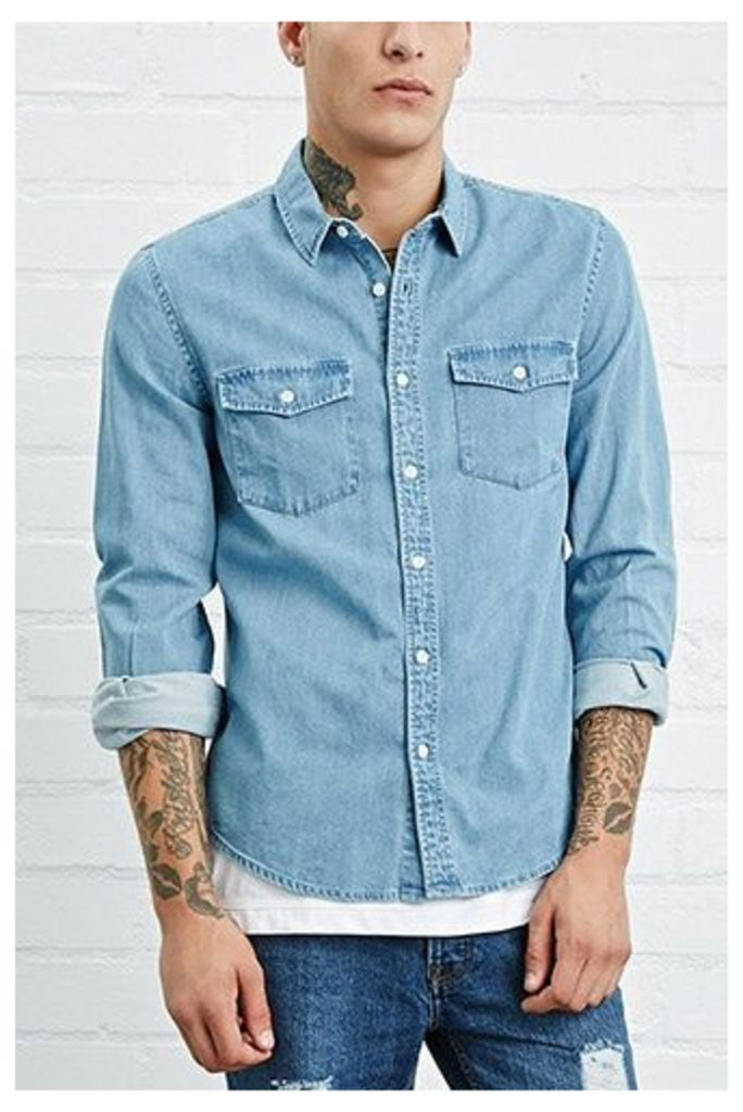 Pocket-Front Denim Shirt