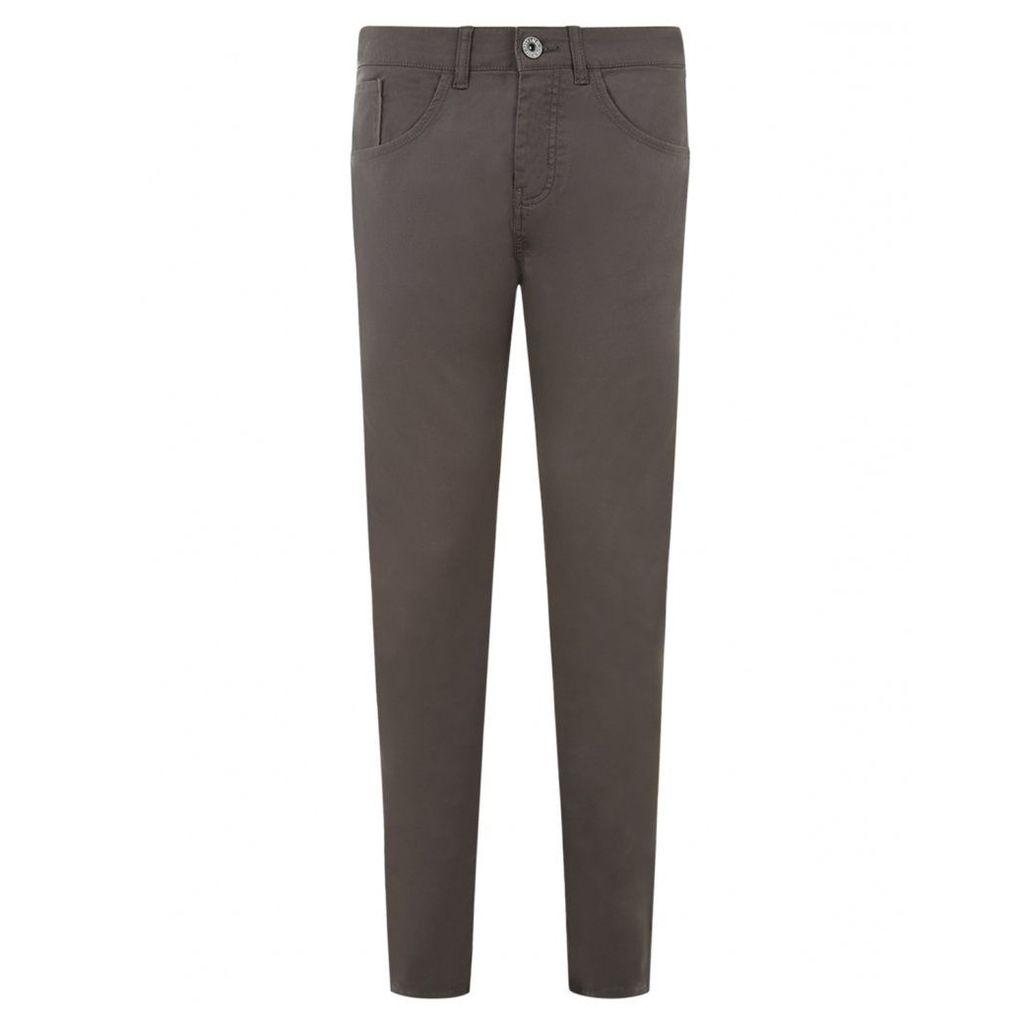 Men's Blue Inc Grey Stretch Skinny 5 Pocket Twill Jeans, Grey