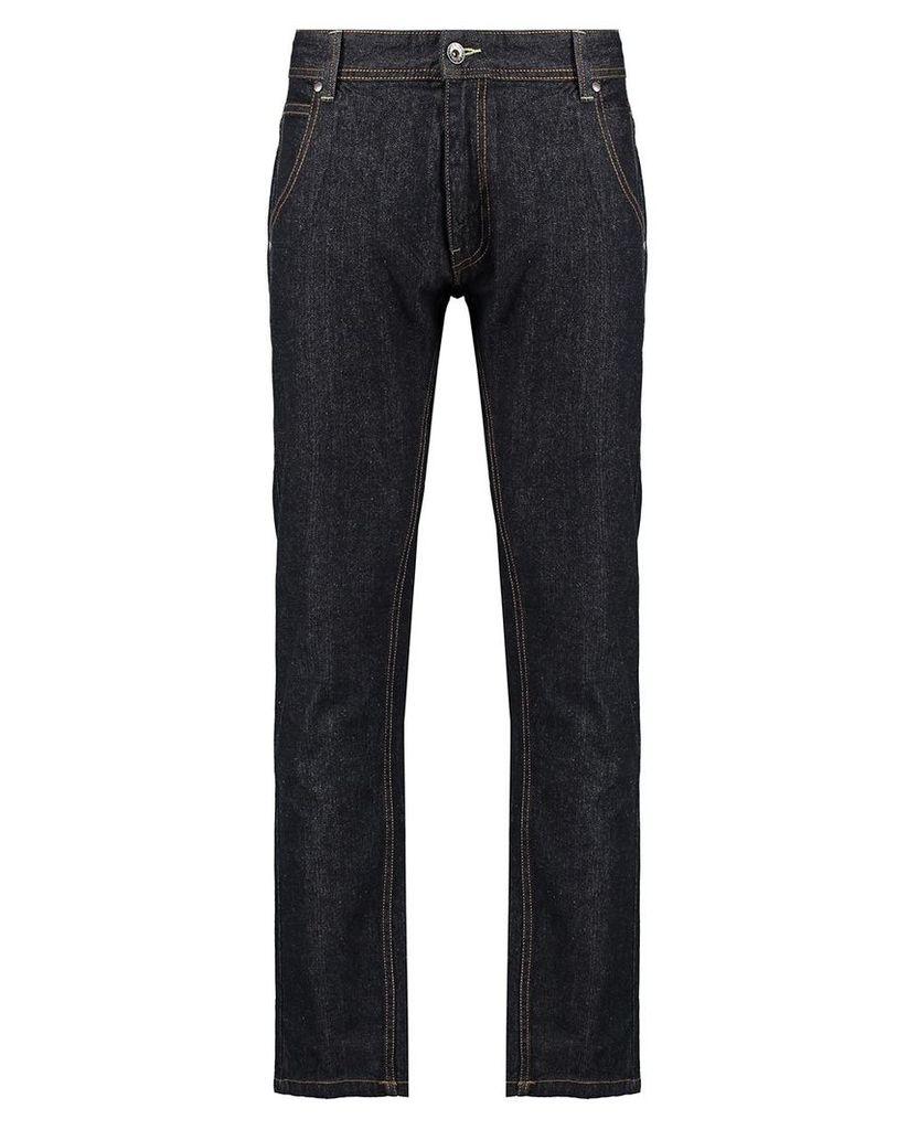 Men's Blue Inc Raw Denim Rinse Slim Fit 5 Pocket Jeans, Blue