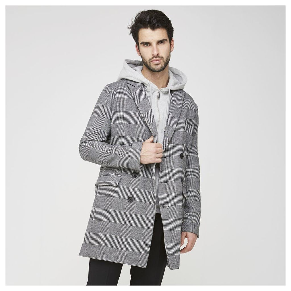 Maniere De Voir; Double-Breasted Overcoat - Checked